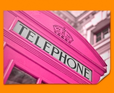Pink Phone Box Poster