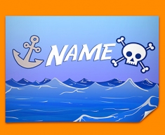 Pirate Personalised Childrens Name Poster