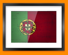 Portugal Flag Framed Print
