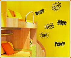 Pow Comic Words Set Wall Sticker