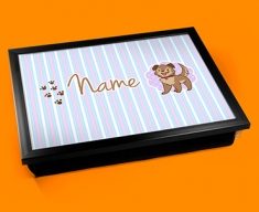 Puppy Personalised Childrens Name Cushion Lap Tray