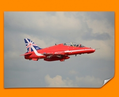 RAF Red Arrows Plane Poster