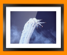 Red Arrows Clouds Plane Framed Print
