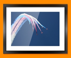 Red Arrows Plane Framed Print