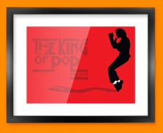 Red Jacko Framed Print