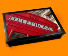 Red Phone Box Cushion Lap Tray