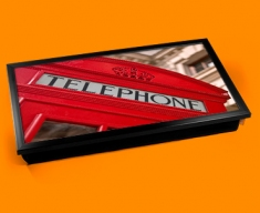 Red Phone Box Laptop Lap Tray