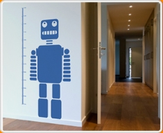 Robot Height Chart Wall Sticker