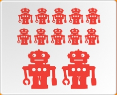 Robot Set 12 Wall Sticker