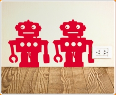 Robot Set 4 Wall Sticker