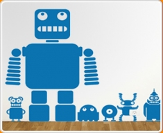 Robots & Aliens Wall Sticker