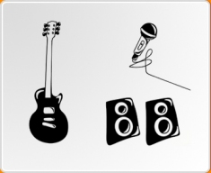 Rock Band Set Wall Sticker