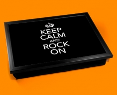 Rock On Keep Calm Cushion Lap Tray