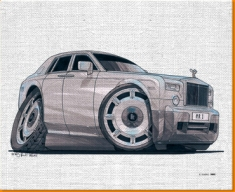 Roll Royce Canvas Art Print