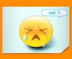 Sad Emoticon Poster