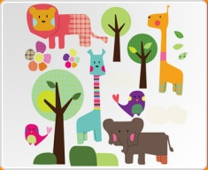 Safari Animals Set Wall Sticker