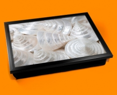 Sea Cone Shells Cushion Lap Tray