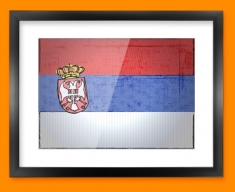 Serbia Flag Framed Print