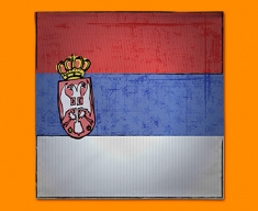 Serbia Flag Napkins (Set of 4)