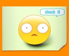 Shock Emoticon Poster