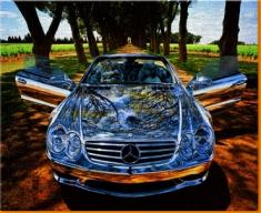 Silver Mercedes Canvas Art Print