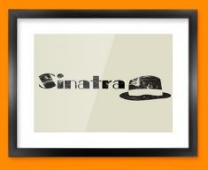 Sinatra Hat Framed Print
