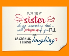 Sister Typography Poster