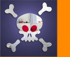Skull and Crossbones Mirror