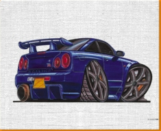 Skyline GTR 590 Canvas Art Print