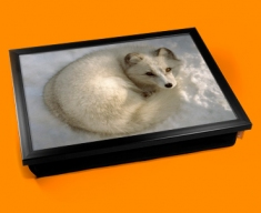 Snow Fox Cushion Lap Tray