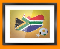 South Africa 2010 Flag Framed Print