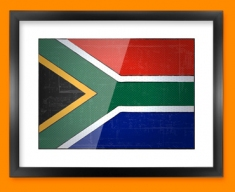 South Africa Flag Framed Print