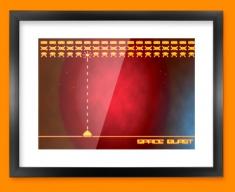 Space Blast Framed Print