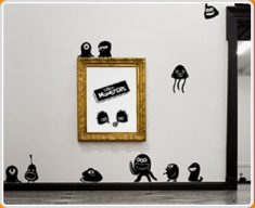 Space Monsters Wall Sticker