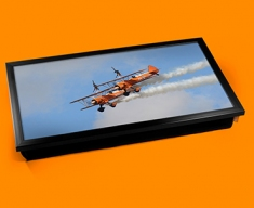 Stearman x2 Boeing Plane Cushion Laptop Tray