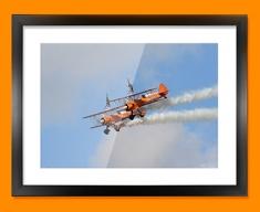 Stearman x2 Boeing Plane Framed Print