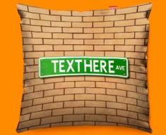 Street Sign US Personalised Funky Sofa Cushion 45x45cm