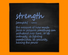 Strength Definition Napkins (Set of 4)
