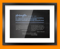 Strength Definition Framed Print
