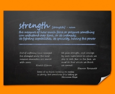 Strength Definition Poster