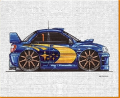Subaru-Rally Canvas Art Print