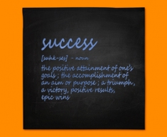 Success Definition Napkins (Set of 4)