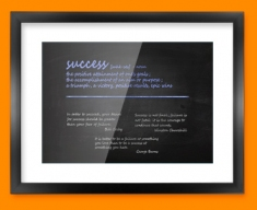 Success Definition Framed Print