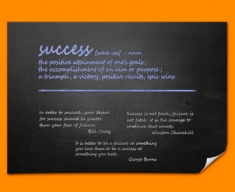 Success Definition Poster