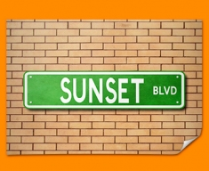 Sunset Blvd US Street Sign Poster