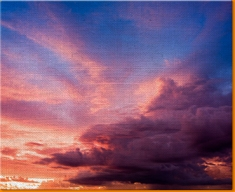 Sunset Clouds Canvas Art Print