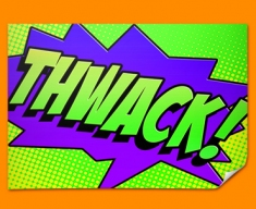 THWACK Comic SFX Poster