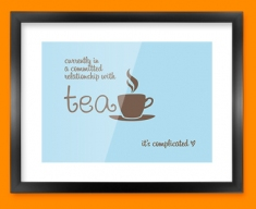 Tea Relationship Typography Framed Print