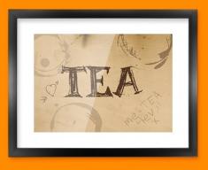Tea Rings Typography Framed Print
