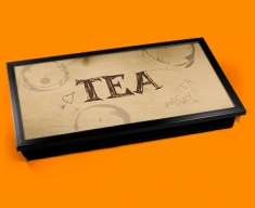 Tea Rings Typography Laptop Tray